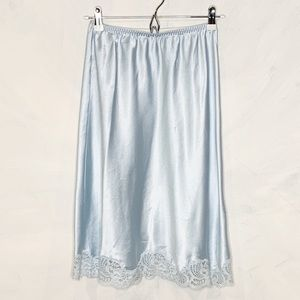 Vintage Ive Blue Lace Trim Slip Skirt